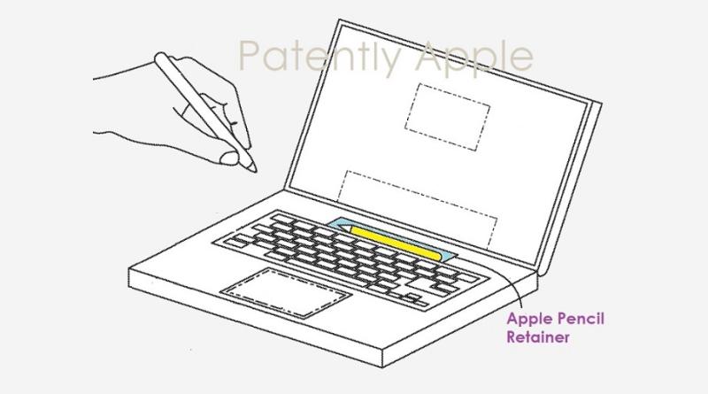 Apple Patenkan Konsep MacBook Dengan Apple Pencil Dock